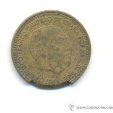 Monedas con errores: ERROR PESETA 1963 *1963 FALLO DE ACUÑACIÓN EN EL CANTO . Lote 29213977