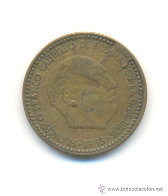 ERROR PESETA 1953*1956 (Numismática - España Modernas y Contemporáneas - Variedades y Errores)