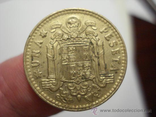 Monedas con errores: RARA VARIANTE ERROR DE DOBLE ACUÑACION UNA PESETA JUAN CARLOS I AÑO 1975*80 - Foto 2 - 29272508