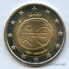 Monedas con errores: * ERROR * 2 EUROS AÑO 2009 ESPAÑA. EMU ESTRELLAS GRANDES. SIN CIRCULAR. EXCELENTE MONEDA. Lote 265891073