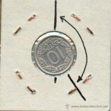 Monedas con errores: * ERROR * 10 CENTIMOS AÑO 1959 CON REVERSO GIRADO 150º. MUY RARA Y ESCASA. Lote 30234749