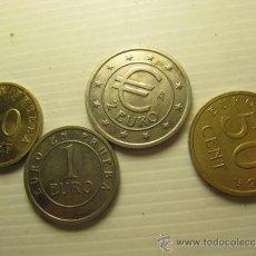 Monedas con errores: LOTE DE 4 MONEDAS DE PRUEBAS DEL EURO, 2€, 1€, 50CTS, 20CTS. Lote 30665282