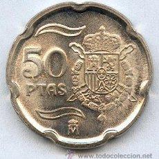 Monedas con errores: * ERROR * 50 PTAS AÑO 2000 SIN CIRCULAR. CUÑO GASTADO. PRECIOSA MONEDA CON UN ESPECTACULAR ERROR.. Lote 27588907