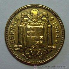 Monedas con errores: VARIEDADES Y ERRORES . 1 PESETA FRANCO 1944 . REVERSO TROQUEL DESGASTADO. Lote 76458181