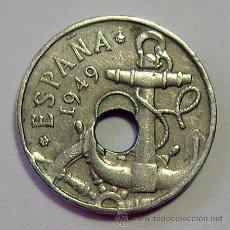 Coins with Errors - VARIEDADES Y ERRORES . 50 CENTIMOS ESTADO ESPAÑOL.1949 *62 . AGUJERO DESPLAZADO - 31191974