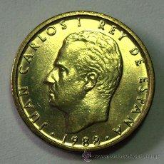 Monedas con errores: VARIEDADES Y ERRORES . 100 PESETAS JUAN CARLOS I . 1988. BUSTO GRANDE . LISS HACIA ABAJO. Lote 31192605