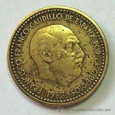 Monedas con errores: VARIEDADES Y ERRORES . 1 PESETA FRANCO 1953 *54 . VARIOS ERRORES. Lote 31330158