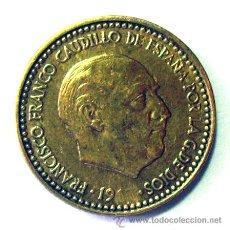 Monedas con errores: VARIEDADES Y ERRORES . 1 PESETA FRANCO 1963 * 65 ..63 BORRADO... Lote 31330352