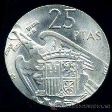 Monedas con errores: 25 PESETA DE FRANCO DE 1965 CON EL COSPEL MUY RECORTADO - CANTO SIN ACUÑAR S/C. Lote 32178957