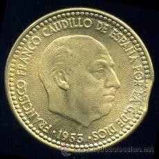 Monedas con errores: ERROR DE FINAL DE PLANCHA - 1 PESETA 1953 *63 S/C. Lote 39121389