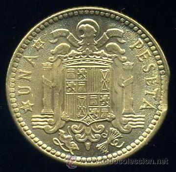 Monedas con errores: ERROR DE FINAL DE PLANCHA - 1 Peseta 1953 *63 S/C - Foto 2 - 39121389