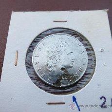 Monedas con errores: MONEDA DE 50 LIRAS DEFECTO METAL. Lote 32365909