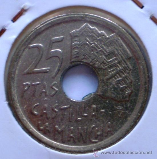 Monedas con errores: 25 Pesetas 1996 Taladro Defectuoso - Foto 2 - 32705116