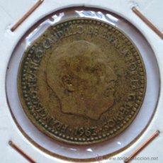 Monedas con errores: 1 PESETA 1963*65 SEGMENTADA. Lote 32706750