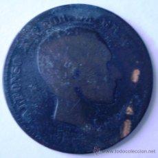 Monedas con errores: 10 CENTIMOS ALFONSO XII REVERSO SIN ACUÑAR RARA . Lote 32712279