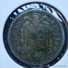 Monedas con errores: 1 PESETA 1944 REPINTADA EN REVERSO. Lote 32728712