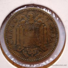 Monedas con errores: 1 PESETA 1947*54 REPINTADA EN REVERSO. Lote 32731889