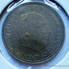 Coins with Errors - 1 Peseta 1963*-- Repintada en Anverso y Reverso - 32743556