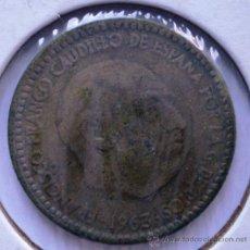 Monedas con errores: 1 PESETA 1963*66 CIRCULO EN ANVERSO. Lote 32743746