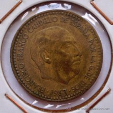 Coins with Errors - 1 Peseta 1963*65 Canto Iregular - 32755150