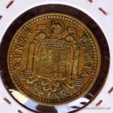 Monedas con errores: 1 PESETA 1966*69 GIRADA EN REVERSO. Lote 32785318