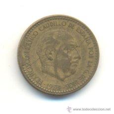 Monedas con errores: 25- PESETA 1953 FUERTE EMPASTE METAL ANVERSO.. Lote 33298144