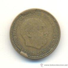 Monedas con errores: 25- PESETA 1963 *1963 DOS FUERTES EMPASTES METAL ANVERSO.. Lote 33298164