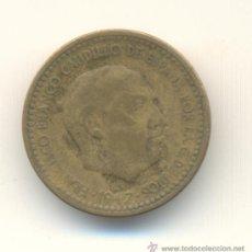 Monedas con errores: UNA PESETA AÑO 1947 SEGUNDA ESTRELLA ANEPIGRAFA POR GOLPE O FALLO DE ACUÑACIÓN. Lote 33803749