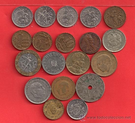 - 9286 BONITO LOTE DE DIEZ Y NUEVE MONEDAS VARIAS (Numismática - España Modernas y Contemporáneas - Variedades y Errores)