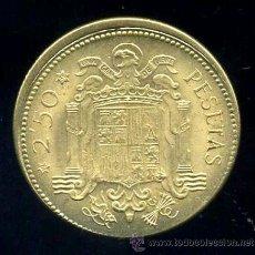 Monedas con errores: ERROR DESPLAZAMIENTO - 2.50 PESETAS 1953 *56. Lote 36915179