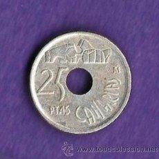 Monedas con errores: MONEDA - VARIEDAD / ERROR - PLATA - J.CARLOS - CANARIAS - 25 PESETAS / PTAS - AÑO 1994 -FOTO REVERSO. Lote 37340997