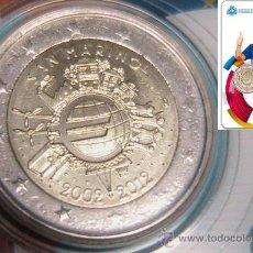 Monedas con errores: SAN MARINO 2012 CARTERA OFICIAL 2 EUROS CON ERROR - 3 ESTRELLAS ILEGIBLES. Lote 37582132