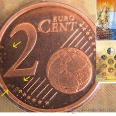 Monedas con errores: HOLANDA 2002 -CARTERA OFICIAL VOC II - CON ERROR EXCESO METAL. Lote 37583144