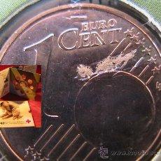 Monedas con errores: BELGICA 2004 CARTERA OFICIAL BU CRUZ ROJA- INCLUYE MEDALLA CONMEMORATIVA CON ERROR. Lote 37585557