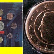 Monedas con errores: BELGICA 2003 CARTERA OFICIAL BU T.V.- INCLUYE MEDALLA CONMEMORATIVA CON ERROR- LINEA METAL. Lote 37585721