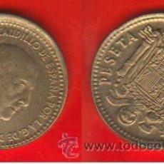 Monedas con errores: ESPAÑA ERROR 1 PESETA 1966 *67 DESPLAZADA. Lote 37766639