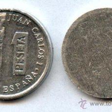Monedas con errores: * ERROR * RARISIMO COSPEL DE 1 PESETA MÓDULO PEQUEÑO (LENTEJA). Lote 40080385