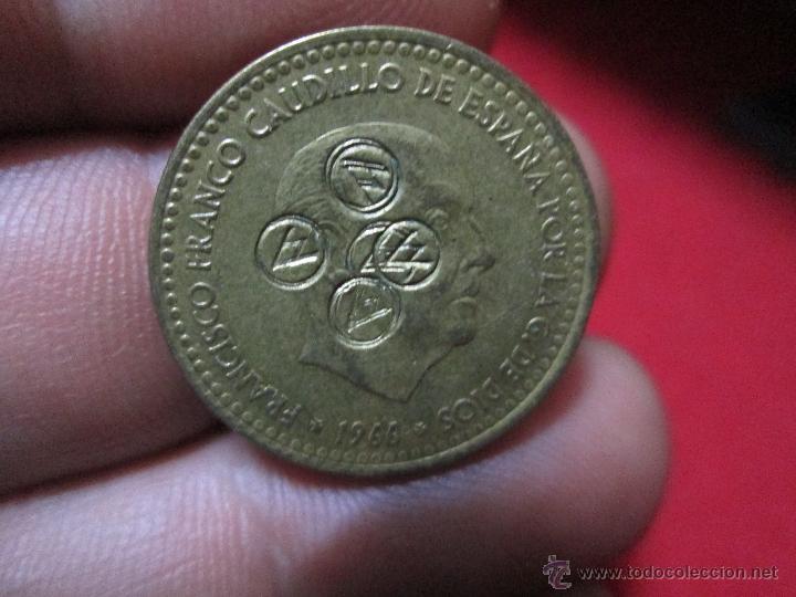 PESETA 1966 RESELLADA (Numismática - España Modernas y Contemporáneas - Variedades y Errores)