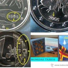 Monedas con errores: FINLANDIA 2005 ALAND CARTERA OFICIAL CON SELLO CONMEMORATIVO- MONEDAS CON ERRORES Y VARIANTES- ERROR. Lote 42602357