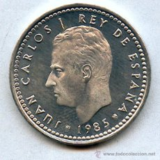 Monedas con errores: 1 PESETA 1985 PROOF. SIN CIRCULAR, PRECIOSA Y PERFECTA. Lote 44308786