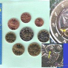 Monedas con errores: GRECIA 2002 CARTERA DE MARCAS MONETARIA ( E-F-S) 5.000 EJEMPLARES- C/ ERROR - BUHO TUERTO. Lote 44384218