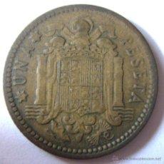 Monedas con errores: 1 PESETA 1953. VARIEDADES-ERRORES. DESPLAZADA Y DOBLE ACUÑACIÓN. Lote 44893785