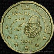 Coins with Errors - ESPAÑA ERROR VARIANTE 2001 - MONEDA DE 20 CÉNTIMOS ESPAÑA - SIN RAYA Ñ - ACUÑACIÓN FLOJA (V10) - 45197380