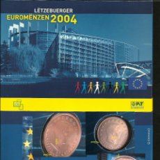 Coins with Errors - LUXEMBURGO 2004 CARTERA OFICIAL FILATELICA NUMISMATICA- MONEDAS CON ERROR- CORTA TIRADA - 45723819