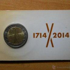 Monedas con errores: COINCARD 2 EUROS - TRICENTENARI 1714 - 2014 - CATALUÑA 2014. Lote 98653030