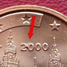 Monedas con errores: ## ERRORES Y VARIANTES ## 2 CENTIMOS 2000 EXCESO DE METAL S/C ##. Lote 68432874