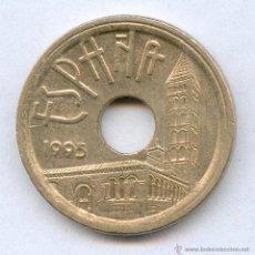 Monedas con errores: * ERROR *. 25 PESETAS AÑO 1995 LISTEL GRUESO. ERROR MUY INTERESANTE Y BONITO. Lote 53668943