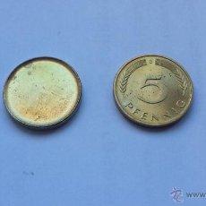Coins with Errors - ## Errores y variantes ## Cospel y moneda de 5 Pfennig de Alemania ## - 47637718