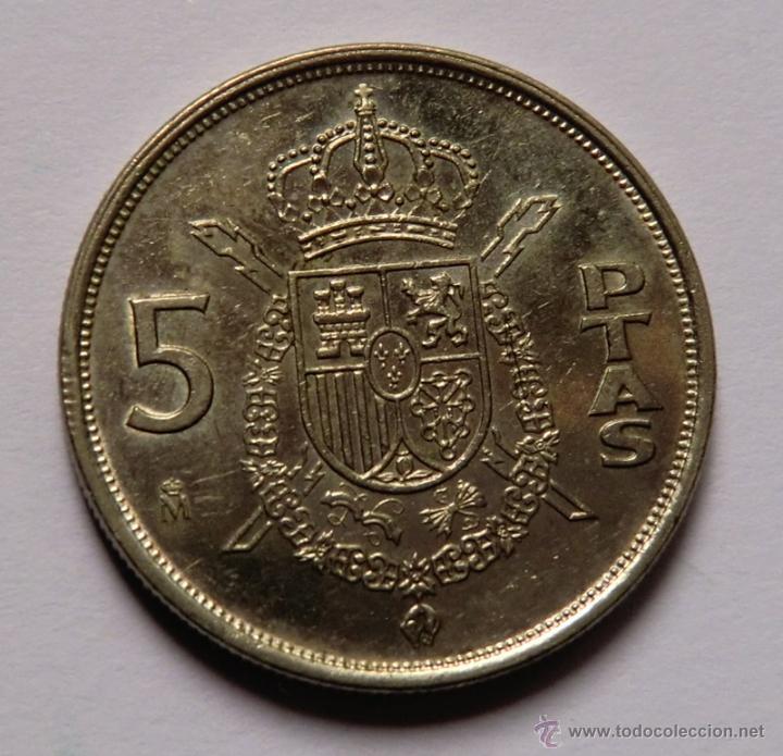 Monedas con errores: ERROR DE 5 PESETAS 1984 - Foto 2 - 48009048