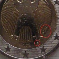 Monedas con errores: ALEMANIA 2002 MONEDA DE 2 EUROS LETRA A CON EXCESO DE METAL EN ANVERSO- ERROR- VARIANTE- AL4. Lote 48074115
